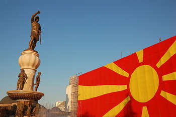 Macedonian flag - Attribution-NonCommercial-ShareAlike License