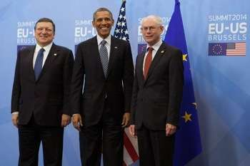 Barroso, Obama e Van Rompuy - Credit © European Union, 2014