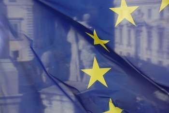 The EU Flag and Castor and Pollux