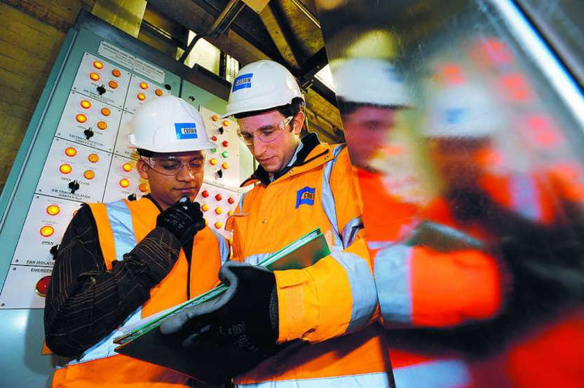 Workers at Costain