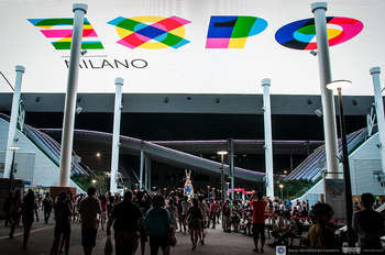 Promotional of Expo 2015 Milan, at the Expo Digital Gallery of Expo