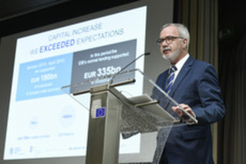 EIB Group Press Conference on 2015 Results, Mr Werner Hoyer - Copyright European Investment Bank Rights Free