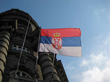 Serbian flag - Photo credit: StephYo via Remodel / CC BY-NC-SA © 2016 FOTER.COM Blog Contact Terms Sitemap Privacy Policy