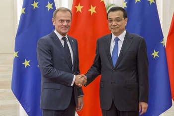 Mr Donald Tusk and Mr Li Keqiang -photocredit Consilium 2016