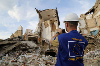 Terremoto Amatrice - Photo credit Dipartimento protezione civile