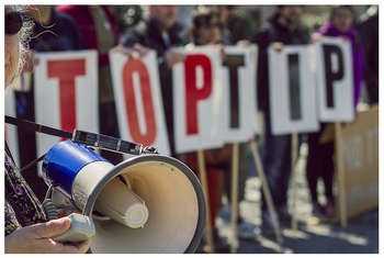 Stop TTIP - Photo credit: Global Justice Now via Foter.com / CC BY