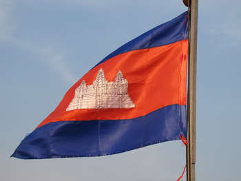 Cambodia Flag - Photo credit: Chuck Moravec