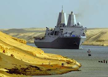 Suez Channel - U.S. Navy photo by Mass Communication Specialist 2nd Class Jason R. Zalasky