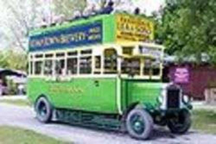 Leyland N Type 125 (Registration CD5125) Bus at the Amberley Working Museum, West Sussex, England, by Michael Haslam