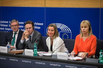 King, Katainen, Mogherini, Bieńkowska © European Union, 2018/Source: EC - Audiovisual Service