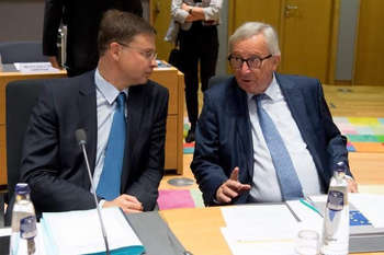 Dombrovskis e Juncker - © European Union, 2018/Photo: Etienne Ansotte