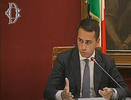 Il Ministro Di Maio durante l'audizione sul Recovery fund
